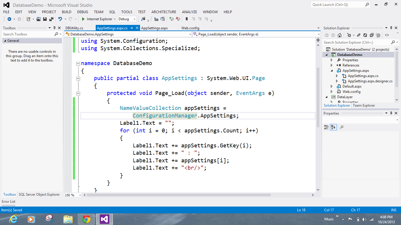 AppSettings in Code with Collections