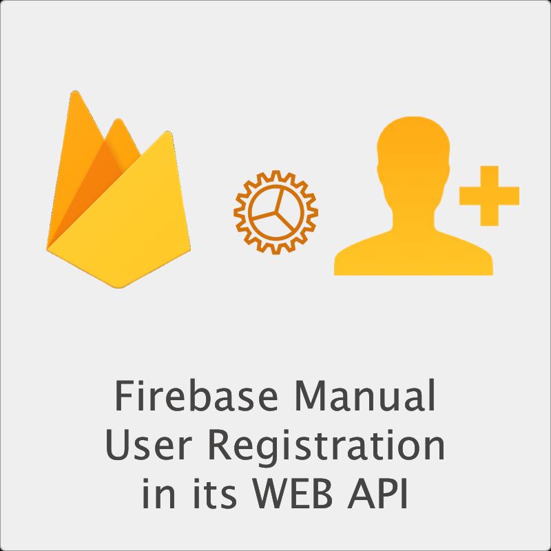 Firebase Manual User Registration