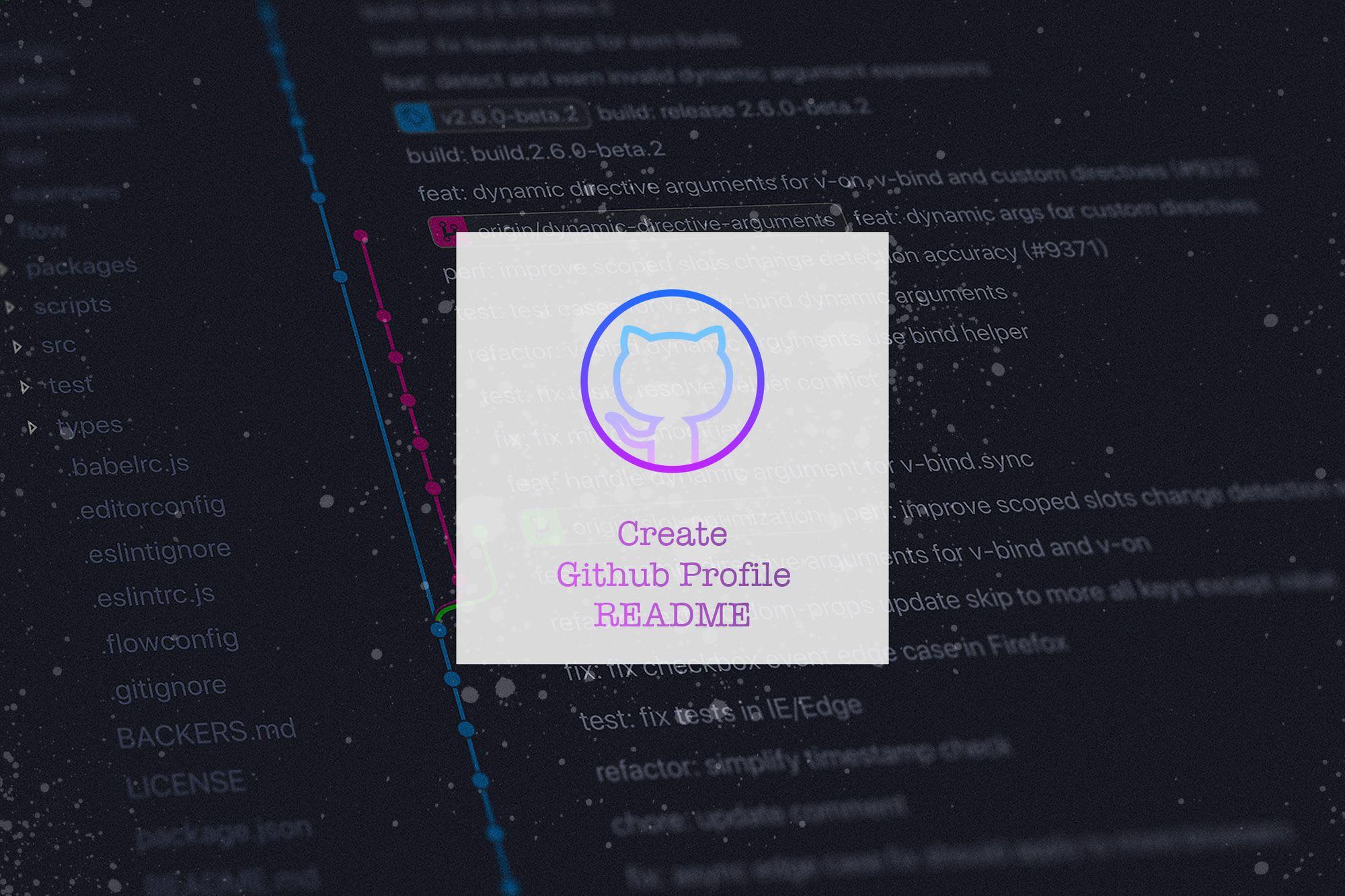 Create & Activate Github Profile README