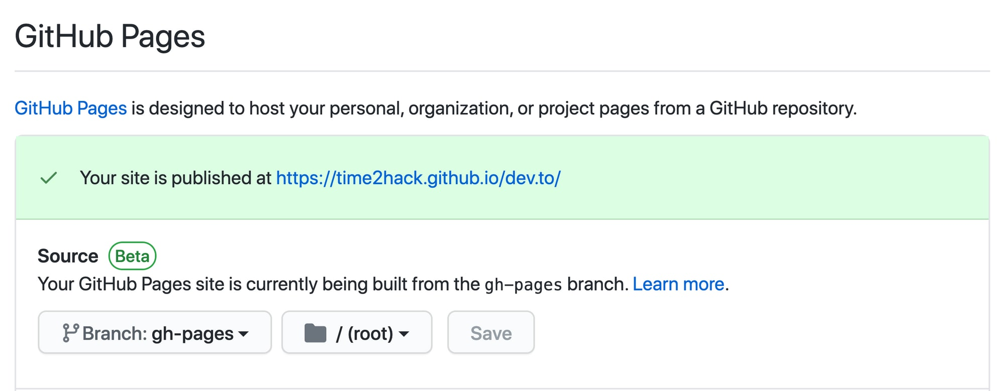 enable-github-pages