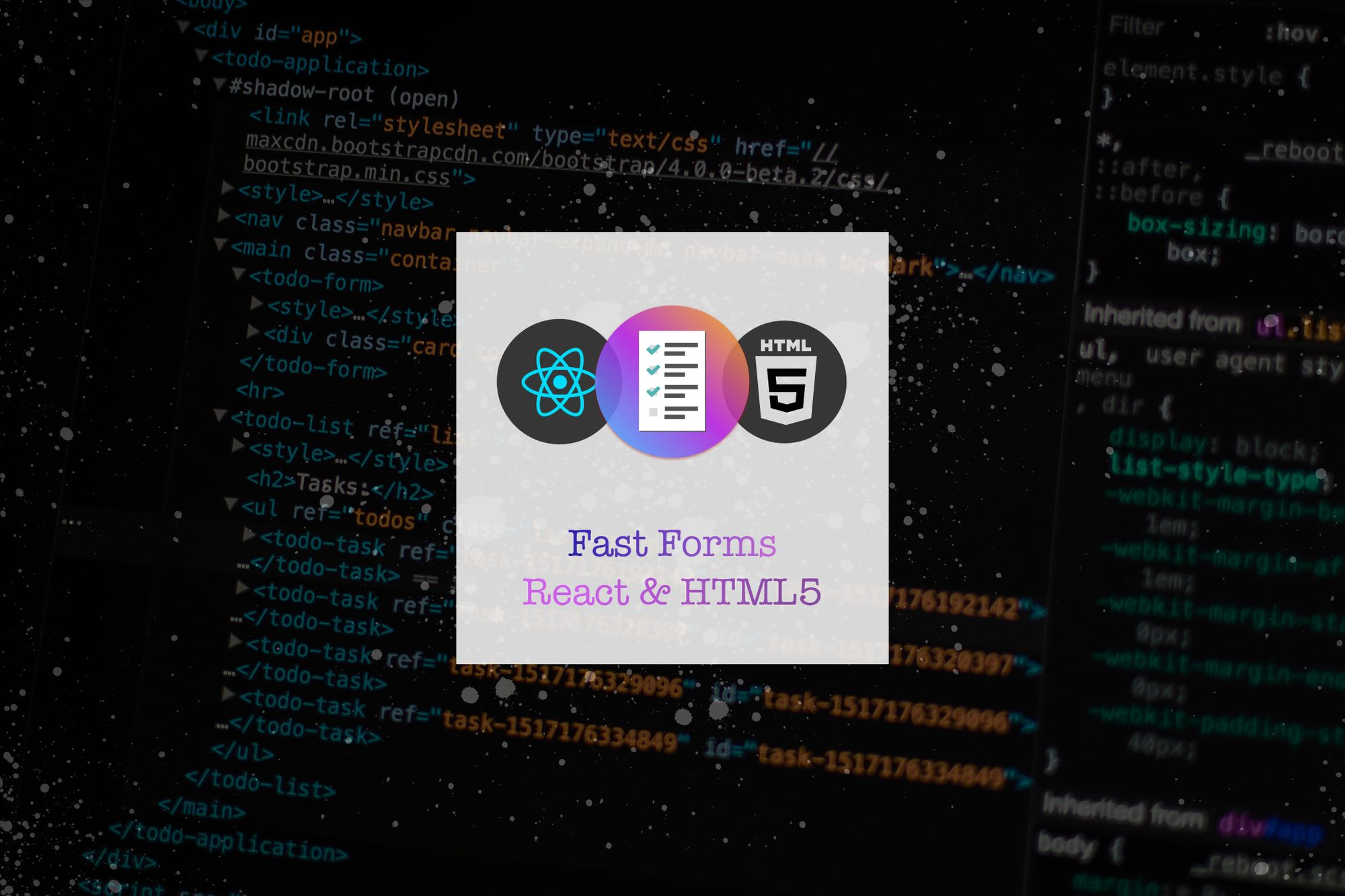 Building Fast Forms in React with HTML5 & Validations