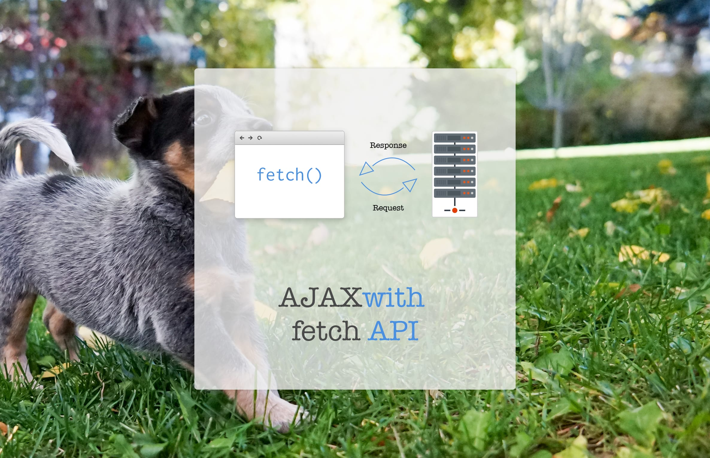 GoodBye XMLHttpRequest; AJAX with fetch API (with Demo)