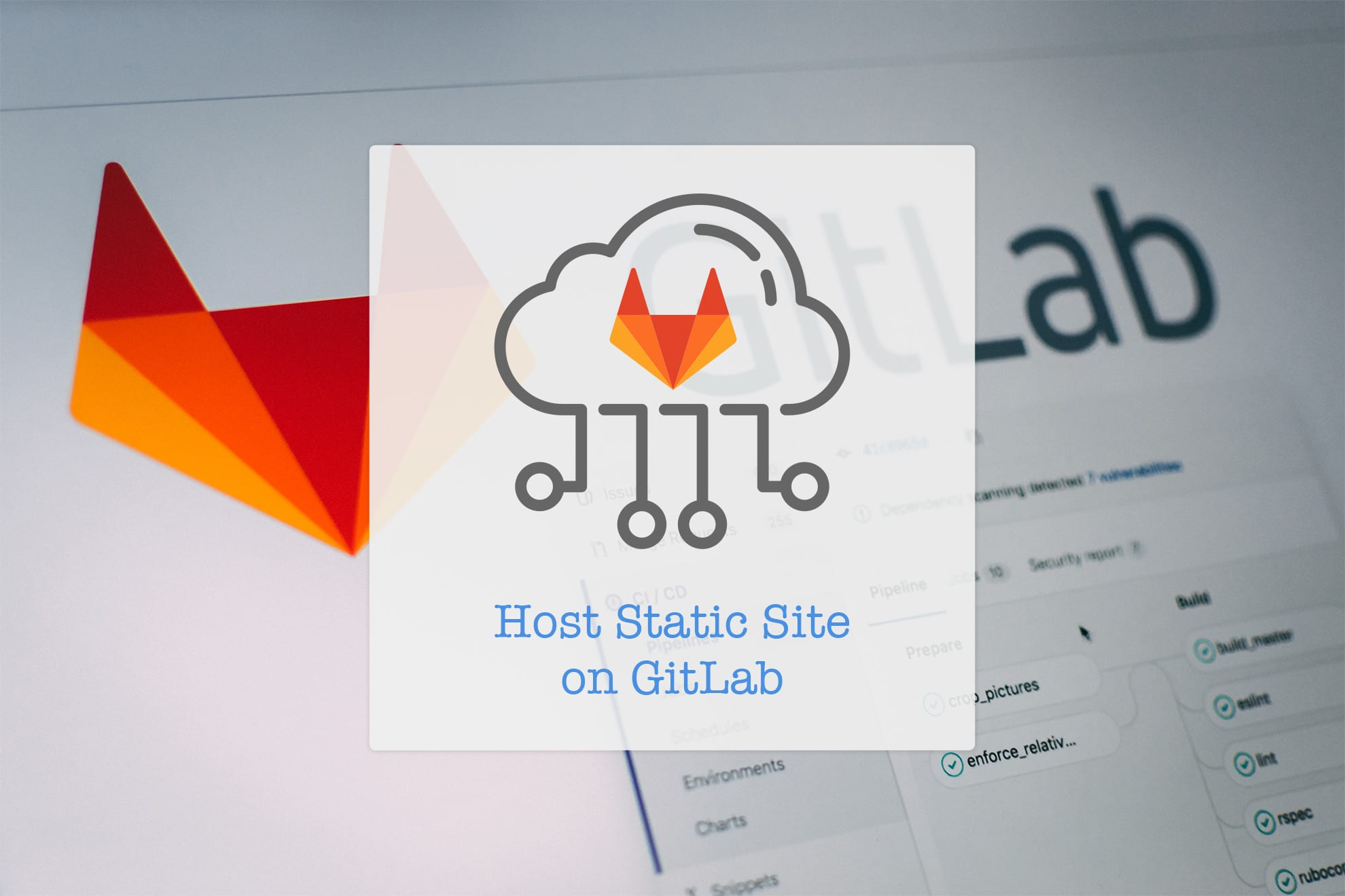 Host your Static Site on GitLab Pages 🎉