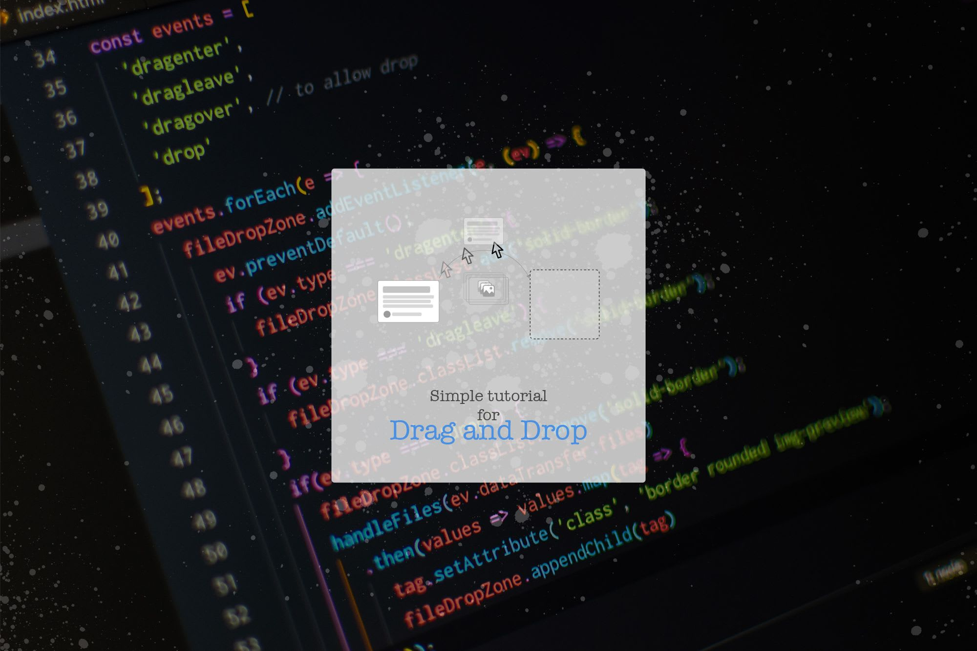 Simple tutorial for Drag and Drop in HTML5