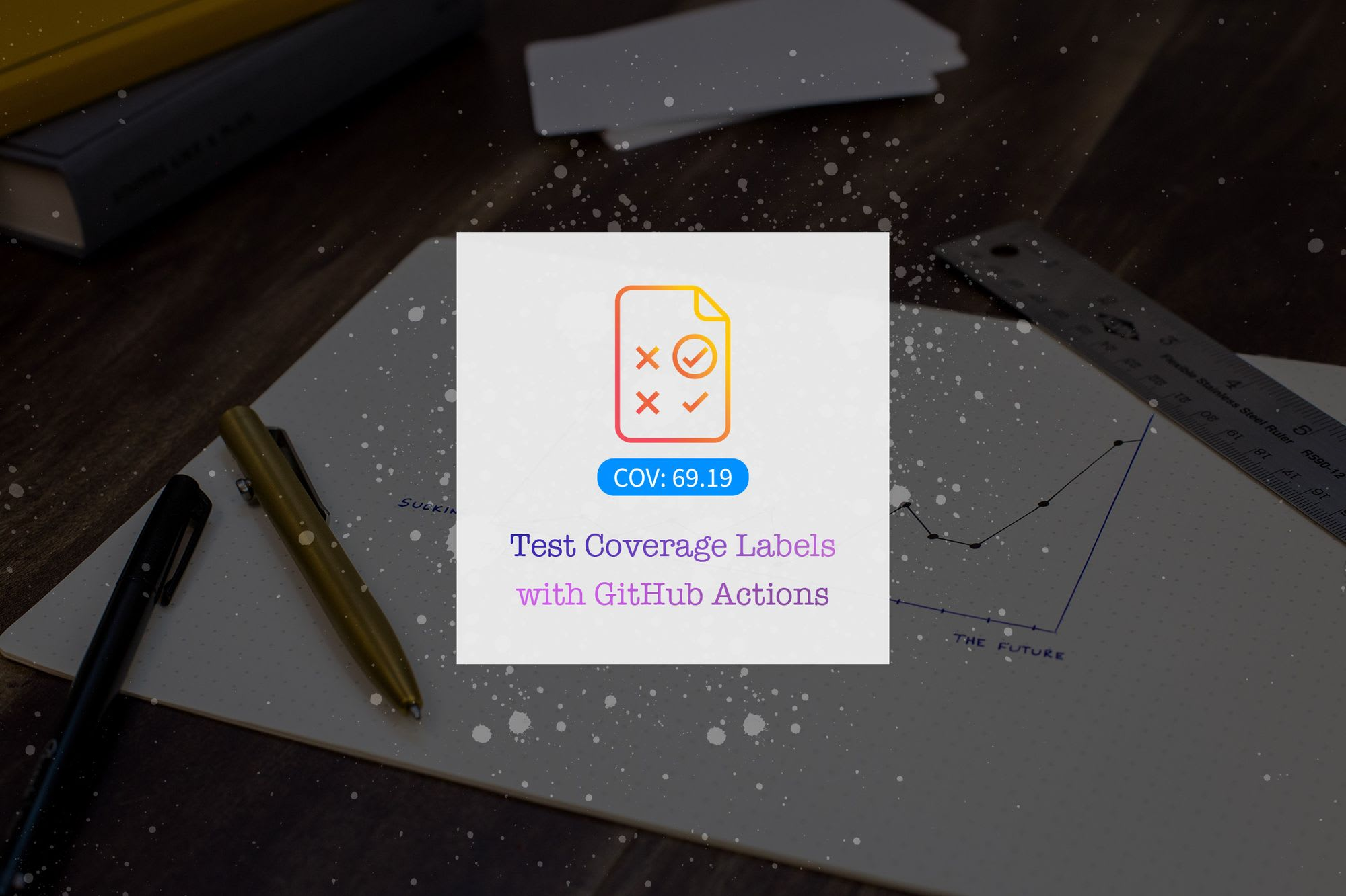 Add Test Coverage Label with Github Actions