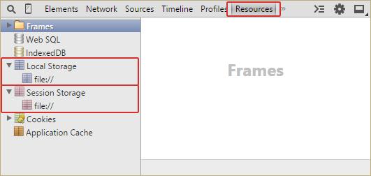 localStorage & sessionStorage in Chrome Web Inspector