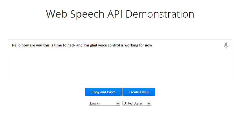 Web Speech API Demonstration